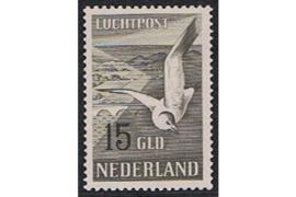 Nederland NVPH LP12 Postfris GECERTIFICEERD FOTOLEVERING (15 Gulden) Zeemeeuw 1951