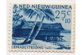 NVPH 43 Postfris (25+10 cent) Leprazegels 1956