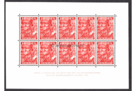 Nederland NVPH V402 (voorheen 402B) Postfris Velletje Legioenzegels met 10 zegels van 7 1/2 + 2 1/2 cent 1942