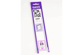 DAVO Easy stroken zwart Z26 (215 x 30) 25 stuks
