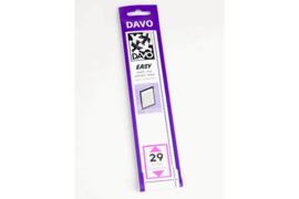 DAVO Easy stroken zwart Z29 (215 x 33) 25 stuks