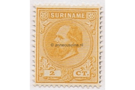 Suriname NVPH 2 Postfris (2 cent) Koning Willem III 1873-1889