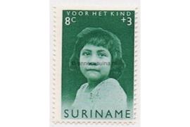 NVPH 398 Postfris (8 + 3 cent) Kinderzegels, meisjes van verschillende volksstammen 1962