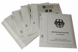 Lindner Inhouden / T-Voordruk albumbladen met folie voorbladen met stroken (Inhoud) Duitsland 1945-1949; Lokale uitgiftes 1945-1946 (45 bladen) (Lindner 119)
