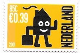Nederland NVPH 1988 Postfris (Doorgestanst) (0,39/0,85) Verhuiszegel in dubbele waarde 2001