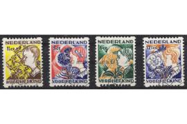 NVPH R94-R97 Gestempeld FOTOLEVERING Tweezijdige hoekroltanding Kinderzegels 1932