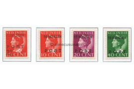 Nederlands Indië NVPH P49-P52 Ongebruikt Hulpportzegels