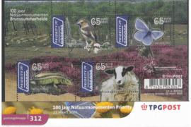 Nederland NVPH M312 (PZM312) Postfris Postzegelmapje 100 jaar Natuurmonumenten 2005