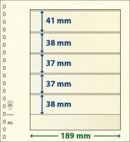 Lindner T-Blanco blad met 5 stroken (Lindner 802501) (per stuk)