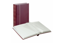 Lindner Insteekalbum Luxe/Luxus Nubuk (60 blz.) Witte bladen/Rode kaft (Lindner 1180-R)