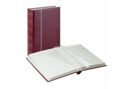 Lindner Insteekalbum (60 blz.) Witte bladen/Rode kaft (Lindner 1180-R)