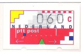 Nederland NVPH AU5 Postfris (60 cent) Automaatstroken, Voordrukzegel voor Klüssendorf-automaat 1996
