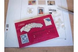 DAVO Gevouwen en gegomde strookjes (plakkertjes) (per 1000 stuks)