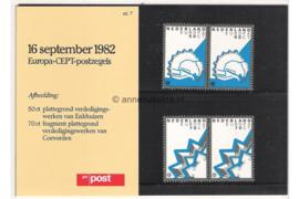 Nederland NVPH M7 (PZM7) Postfris Postzegelmapje Europa-CEPT Historische vestigingen 1982
