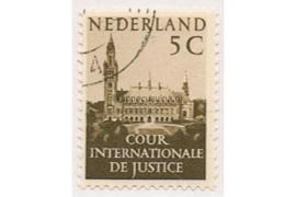 SPECIALITEIT! Nederland NVPH D30b (VIOLINO PAPIER) Gestempeld (5 cent) COUR INTERNATIONALE DE JUSTICE 1951-1953 Vredespaleis te 's-Gravenhage