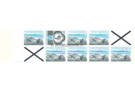 Indonesië Zonnebloem Pb 2a Postfris Postzegelboekje Blauw 7 x 75 rp (851) + 1 x 100 ct rp (882) + twee kruizen rechts boven en links onder. Toeslag 50 rp. 1978