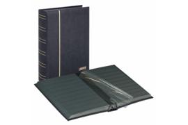 Lindner Insteekalbum Luxe/Luxus Nubuk (60 blz.) Zwarte bladen/Zwarte kaft (Lindner 1181-S)
