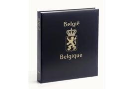 DAVO Luxe postzegelalbum Belgie S gest. reclame. standepzs INCL. LUXE CASSETTE