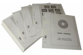 Lindner Inhouden / T-Voordruk albumbladen met folie voorbladen met stroken (Inhoud) China-Taiwan (Formosa) 2001-2006 (incl. Portzegels 1948-1998) (61 bladen) (Lindner 164-01)