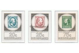 NVPH 886-888 Postfris Postzegeltentoonstelling Amphilex '67 1967