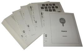 Lindner Inhouden / T-Voordruk albumbladen met folie voorbladen met stroken (Inhoud) Frankrijk 1945-1959 (48 bladen) (Lindner 131-45)