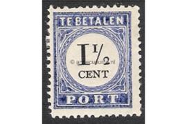 NVPH P15a Type III Postfris (1 1/2 cent) Cijfer en waarde zwart 1894-1895