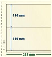 Lindner dT-Blanco blad met 2 stroken (Lindner dT802212) (per stuk)