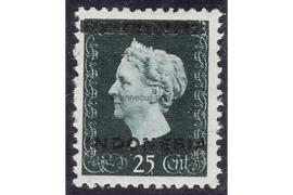 Indonesië Zonnebloem 3B / NVPH 353a Postfris FOTOLEVERING (25 cent) Hulpuitgifte. Opdruk Indonesië in zwart op zegels der uitgifte 1945 en 1948 1948-1949