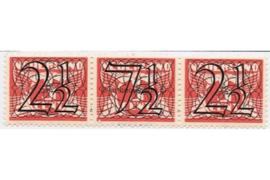 Nederland NVPH 356d (2 1/2 + 7 1/2 + 2 1/2 cent) Postfris Guilloche (traliezegels) in zwart op rood op 3 cent type vliegende duif 1926, 1940