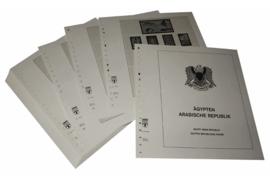 Lindner Inhouden / T-Voordruk albumbladen met folie voorbladen met stroken (Inhoud) Egypte 1982-1991 (45 bladen) (Lindner 153A-82)