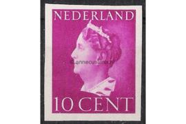 Nederland NVPH 335v Postfris Ongetand (10 cent) Koningin Wilhelmina 1940-1947
