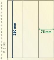Lindner T-Blanco blad met Stroken voor Rolzegels (Lindner 802121) (per stuk)