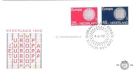 Nederland NVPH E106 Onbeschreven 1e Dag-enveloppe Europa 1970