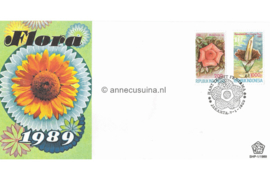 Indonesië Zonnebloem SHP-1/1989 Bloemen ter gelegenheid van Flora 1989