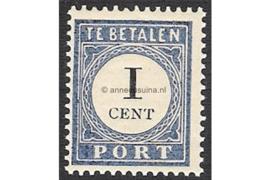 NVPH P14 Postfris (1 cent) Cijfer en waarde zwart 1894-1910