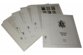 Lindner Inhouden / T-Voordruk albumbladen met folie voorbladen met stroken (Inhoud) België 1990-1997 (42 bladen) (Lindner 127-90)