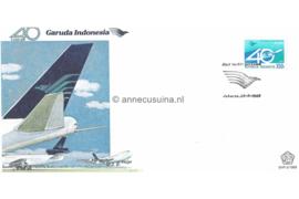 Indonesië Zonnebloem SHP-2/1989 Het 40-jarig bestaan van de Indonesische luchtvaartmaatschappij Garuda 1989