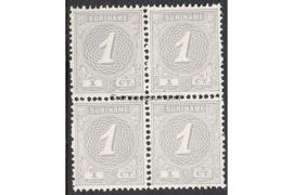 NVPH 16 Postfris (1 cent) (Blokje van vier) Cijfer 1890-1893