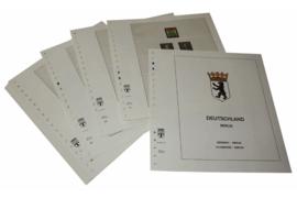 Lindner Inhouden / T-Voordruk albumbladen met folie voorbladen met stroken (Inhoud) Berlijn 1970-1979 (30 bladen) (Lindner 120C-70)