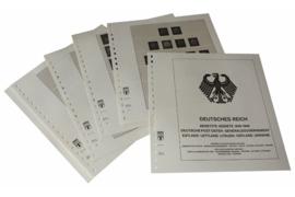 Lindner Inhouden / T-Voordruk albumbladen met folie voorbladen met stroken (Inhoud) Duitse Rijk Bezette Gebieden; Duitse Post in het Oosten (Generalgouvernement., Oekraine, Estland, Oostland, Letland & Litouwen 1939-1944 (14 bladen) (Lindner 117C)