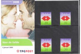Nederland NVPH M308 (PZM308) Postfris Postzegelmapje Voor de liefde 2005