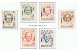 NVPH 454-459 Postfris Prinsessenzegels 1946