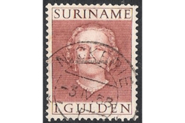 "Suriname NVPH 294 (NICKERIE) Gestempeld FOTOLEVERING (1 gulden) Koningin Juliana (""En-face"") 1951"