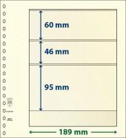 Lindner T-Blanco blad met 3 stroken (Lindner 802302) (per stuk)
