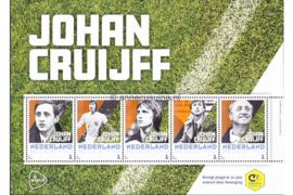 Nederland NVPH Johan Cruijff Postfris (met flyer) Velletjes met vijf zegels (Persoonlijke Postzegels) Velletje Johan Cruijff 2017