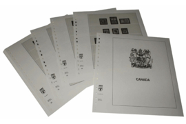Lindner Inhouden / T-Voordruk albumbladen met folie voorbladen met stroken (Inhoud) Canada 1953-1971 (17 bladen) (Lindner 500-53)