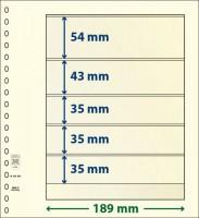 Lindner T-Blanco blad met 5 stroken (Lindner 802503) (per stuk)