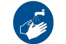 """Herma Gebodsticker """"Handen Wassen"""" (ø 10cm) 1 Sticker (Herma 12927PS)"""