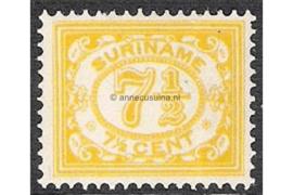Koopjeshoek! Suriname NVPH 84 Ongebruikt FOTOLEVERING (7 1/2 cent CITROENGEEL!) Cijfer (Vürtheim) 1913-1931