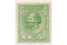 Suriname NVPH 4 Postfris (3 cent) Koning Willem III 1873-1889